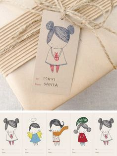 Cute gift tag printables <3  5 dollars from mayicarles on etsy