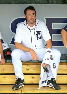 Detroit Tiger Justin Verlander gets ready to pitch in Spring Training, March 2013. #DetroitTigers