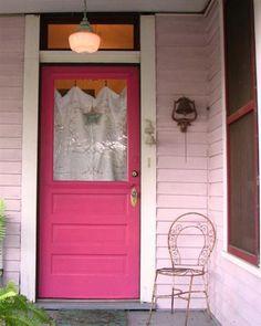 Decora el hogar: Decoración para tu puerta color rosa