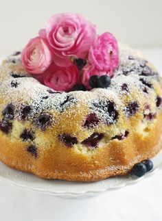 Blueberry Bundt Cake by @Bakeat350Tweets