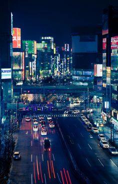 Nishishinjuku 7 Chome: Shinjuku, Tokyo, Japan.