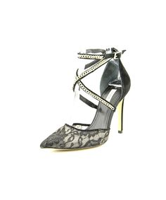 724392a11e06eb Guess Guess Adabellely Pointed Toe Canvas Heels Closed Toe Sandals