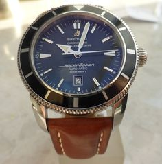 BREITLING SUPER OCEAN HERITAGE 46mm AUTOMATIC CHRONOMETER SPECIAL EDITION WATCH | eBay