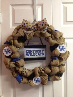 UK University of Kentucky Wildcats Wreath