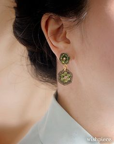 PERIDOT GREEN JEWELRY / gift ideas for women / light green