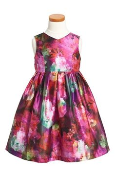 Pippa & Julie Floral Shantung Dress (Toddler Girls, Little Girls & Big Girls) available at #Nordstrom