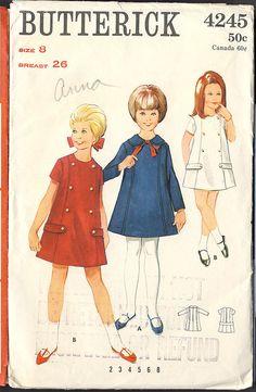 #Vintage #Sewing #Pattern '60's Butterick 4245 Sz 8 A-line & princess seams