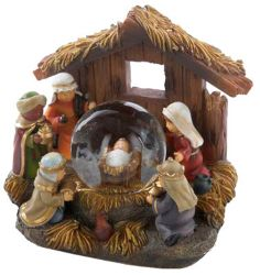 Nativity Snow Globes | ... about Holy Family Nativity Holiday Christmas Mini Snow Water Globe
