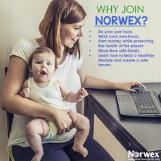 you want to earn more money? Work from home & spend more time with your family when you Join Norwex!