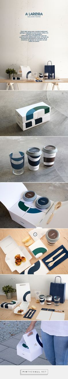 A Lareira on Behance curated by Packaging Diva PD. Takeout packaging for a variety of tastes.
