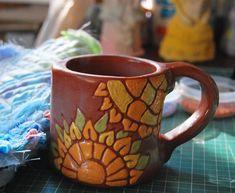 ...вересень...так класно! #Ukraine #Kramatorsk #ceramic #artstudio #clay #ceramicart #art #ceramics #foto #sgraffito #sunflower