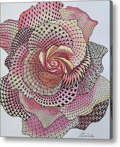 Zentastic Rose Acrylic Print By Davilla Harding