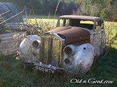 rusty abandoned rolls royce