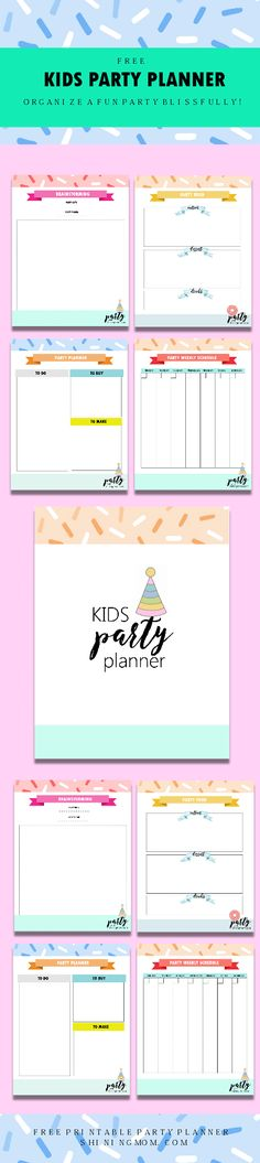 Hurrah! I am sharing a free printable Kids Party Planner today! Welcome to Shining Mom's Day 2 of Party Planning series. If you're currently brewing up a birthday bash for your kid, you…