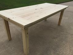 This is a simple farm table with breadboards built with 2x and 1x material.  I used a planer, joiner, table saw, miter saw, circular saw, dowel jig, hand drills, and a Kreg jig. You don't have to have all these to build the table. I planed my 4x4 to 3.25