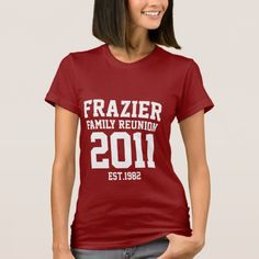 A great, basic shirt design that suits any family reunion theme!