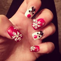Celebration of Christmas is one amazing inspiration for a nail art design. Choose your favorite nail designs for this Christmas. #Christmas #Nail #designs