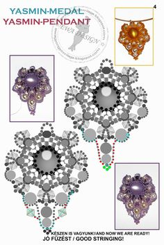 .http://www.pinterest.com/ellenwijnands/beaded-pendants/