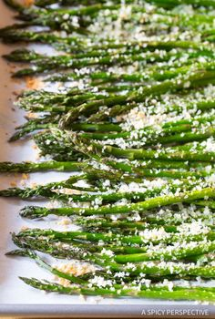 Lemon Butter Roasted Asparagus Recipe - We love this tangy-sweet roasted asparagus with crispy panko on top. Just 6 ingredients and 10 minutes.