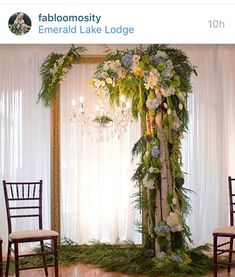 Gorgeous wedding ceremony backdrop