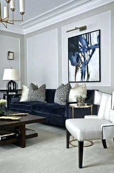 Blue and Gold Living Room Decor. 20 Blue and Gold Living Room Decor. the Best Silver Living Room Decor Best Interior Decor Brown And Gold Living Room, Navy Living Rooms, Blue Living Room Decor, Best Living Room Design, Formal Living Rooms, My Living Room, Small Living, Modern Living, Blue Living Room Furniture