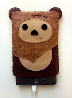 OH MY GOSH. It's SO CUTE!   Ewok Kindle Cozy. $27.00, via Etsy.