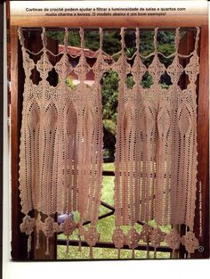 Cortinas - Curtain crochet ~ Craft , handmade blog