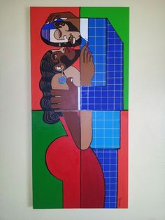 The Kiss by Lloyd G. Wade #African American Art.  www.lloydgwade.com