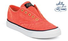 Coral Canvas. The 'Milly for Sperry Top-Sider' collection. Laceless Sneaker.  $90.00  Sperrytopsider.com