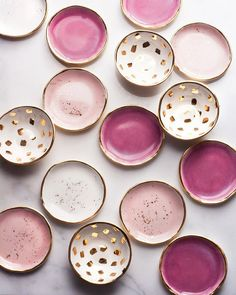 "Kiln fresh, still warm to the touch and back in stock on Tuesday at 7 PM EST. When the seasons change I notice subtle changes in my glazes, little fascinating, sciency things. It was especially warm when I fired this glaze load causing the kiln to cool very slowly. As a result the Amaranth glaze produced subtle crystals in a milky-blue pool of glass. It's these sort of little things that make handmade work truly exceptional. We'll be listing these as ""Raspberry"" this upcoming Tuesday…"