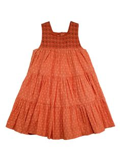 Diamond Coral Gypsy Dress by Masala Baby at Gilt