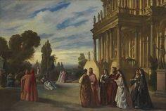 Anselm Feuerbach - Der Garten des Artistes 1862