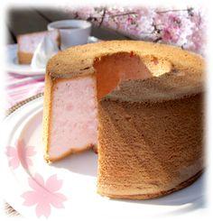 sakura cherry blossom angel cake - heavenly! フレイバー | 桜エンジェルフードケーキ #Japan #cherryblossoms #cake