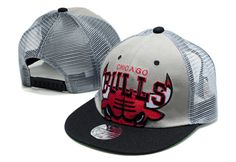 NBA Chicago Bulls Mesh Snapback Net Caps Hats Caps Mitchell And Ness Mesh Gray 2265|only US$8.90,please follow me to pick up couopons.