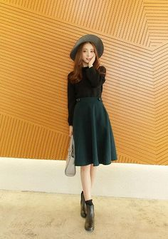 Korean style - put on a large waist in long woolen skirts - AddOneClothing - 7: