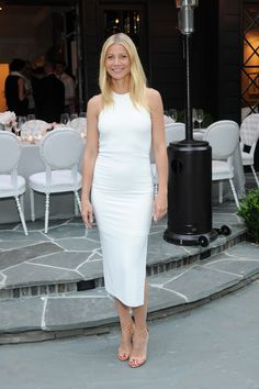 Who: Gwyneth Paltrow When: 6/8/2015 Why: Clean, chic, and perfect. The nude sandal, the neckline, the tan. It's all working.   - ELLE.com