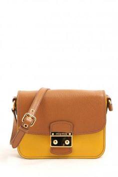 64e5e24211b Miu Miu bandoliera madras bicolor soleil+cuoio bag. Brown and yellow color  leather shoulder