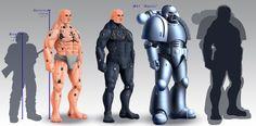 Just a concept of astartes, and how power armor fits on them
