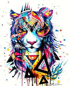 Risultati immagini per lions pop art Tiger Painting, Painting & Drawing, Watercolor Paintings, Watercolor Tiger, Tiger Drawing, Watercolors, Watercolor Tattoo, Tiger Artwork, Watercolor Animals