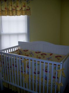 Suzy's Zoo in Yellow 5 Piece Crib Set with valance. This is just adorable :)