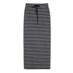High Waist Elastic Waist Striped Maxi Pencil Skirt ($22) ❤ liked on Polyvore featuring skirts, bottoms, clothes - skirts, pencil skirts, stripe skirt, high-waisted skirts, maxi skirts and high waisted skirts