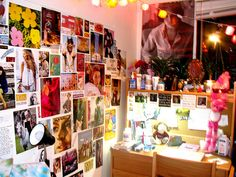 Use magazine covers to plaster all over your walls