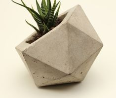 Geodesic Planter, Natural Concrete modern-indoor-pots-and-planters Concrete Cement, Concrete Projects, Concrete Design, Concrete Planters, Planter Pots, Plante Crassula, Beton Design, Beton Diy, Vase
