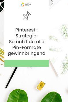 Pinterest richtig nutzen: Lerne die verschiedenen Pin-Formate kennen, die Pinterest Content Publishern und Online-Shops bietet.