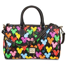 $20 Visa Gift Card Rebate from www.100GrandHustle.com The legendary quality and style of Dooney & Bourke meets the irrepressible fun of Mickey Mouse with this Satchel featuring colorful Mickey icon balloons. Crafted of durable cotton and leather, it features handles and a removable shoulder strap.