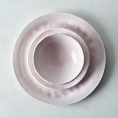 PRESALE Food52 Pink Textured Porcelain Dinnerware Set, by Looks Like White on Food52