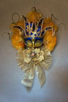 Deco mesh wreath. Carnaval .