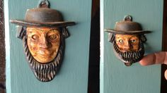 I'm not sure when these antique American Amish door knockers were made, or if they were ever sold, but they sure are a neat addition to any door that's for sure. Soft And Gentle, Match Making, Door Knockers, Amish, Cool Pictures, Country, American, Antiques, Outdoor