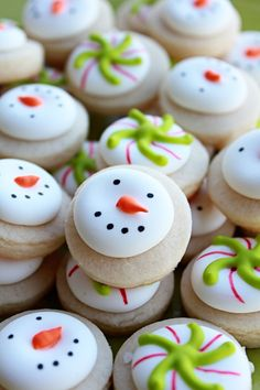 Mini Vanilla Snowman & Christmas Candy Sugar Cookies.
