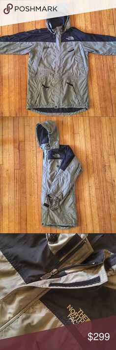 North Face Heavy Nylon Parka Style Mountain Jacket Men's The North Face Heavy Nylon Parka Style Mountain Jacket - Large - Pre-owned In Excellent Condition.  Retails $299.  Olive green & black. REMEMBER:  this is a pre-owned item.  Ask questions before bidding/purchasing.  We do the best we can with our photos to show any flaws or defects if any apply.  See something you like but it's not here next week? We sell in store and across multiple platforms, so items go quick! If you're interested…